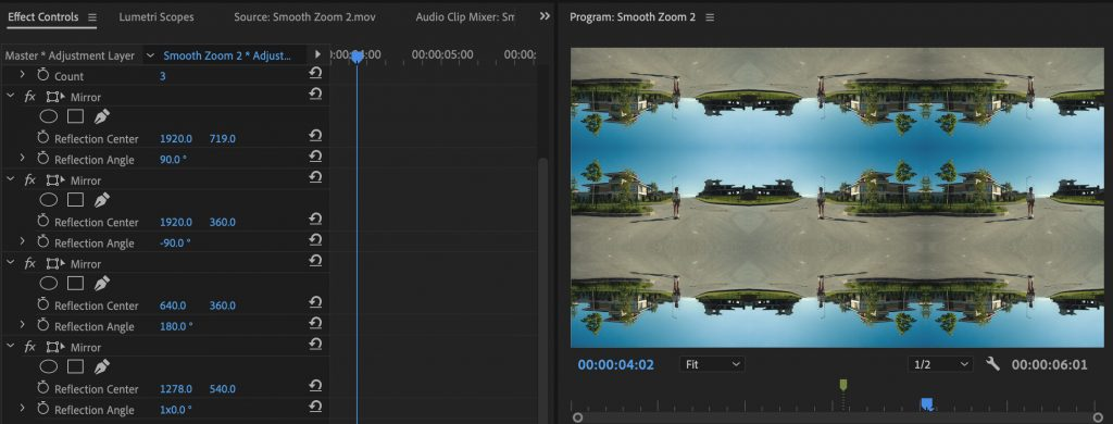 smooth zoom reflection