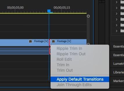Apply default transitions