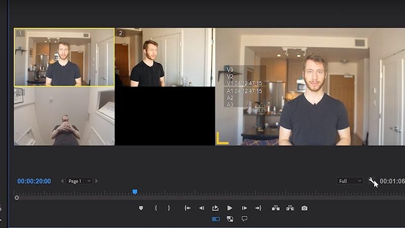 Select multicam overlays