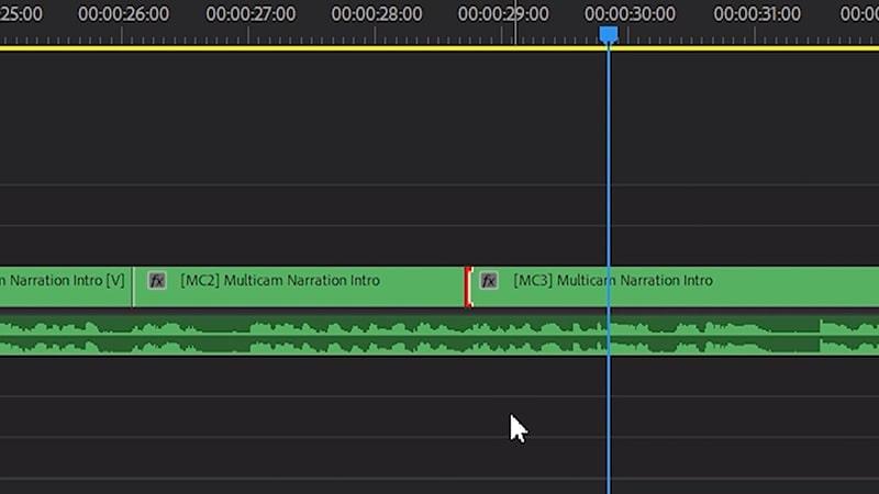 Deleting an multicam edit