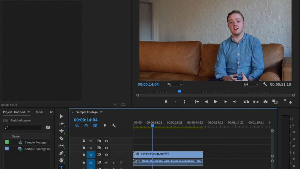 Premiere Pro Graphics Workspace