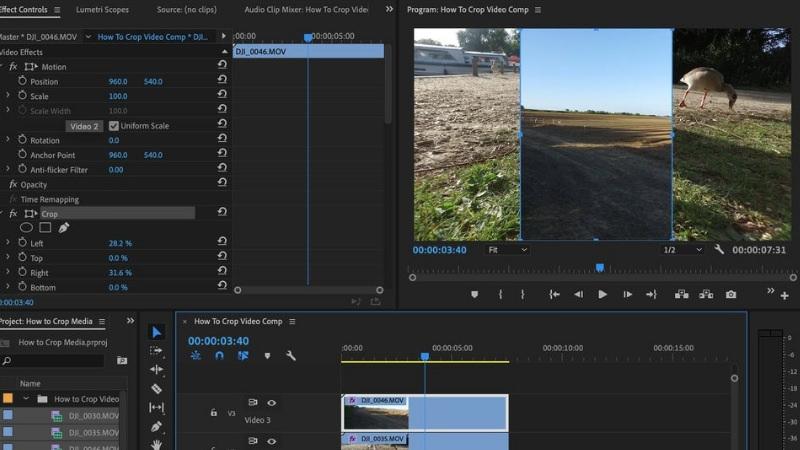 crop video clips