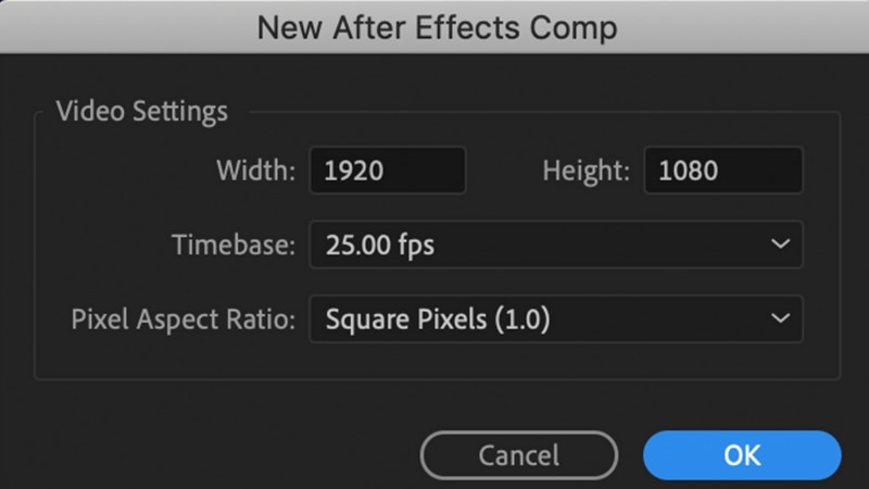 Dynamic link from After Effects to Premiere Pro