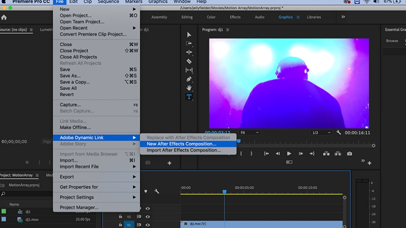 New After Effects composition