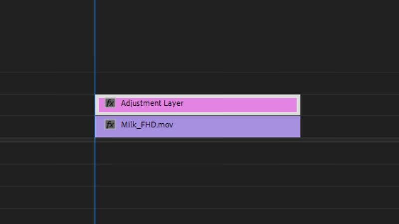 adjustment layer on clip